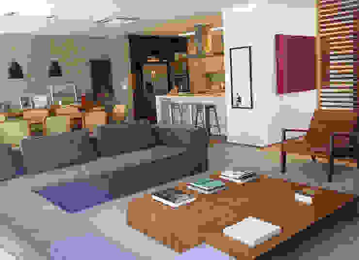 COBERTURA LAGOA Salas de estar modernas por Andréa Menezes & Franklin Iriarte Moderno