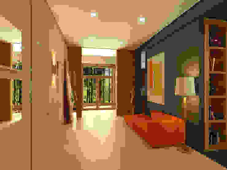 Дом в пос. Охта-Парк Коридор, прихожая и лестница в стиле минимализм от oneione Минимализм