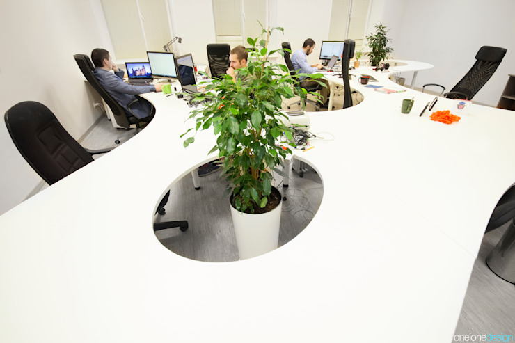 MYSALE GROUP OFFICE Офисные помещения в стиле минимализм от oneione Минимализм