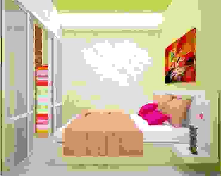 Яркая квартира в Сочи Спальня в эклектичном стиле от Универсальная история Эклектичный