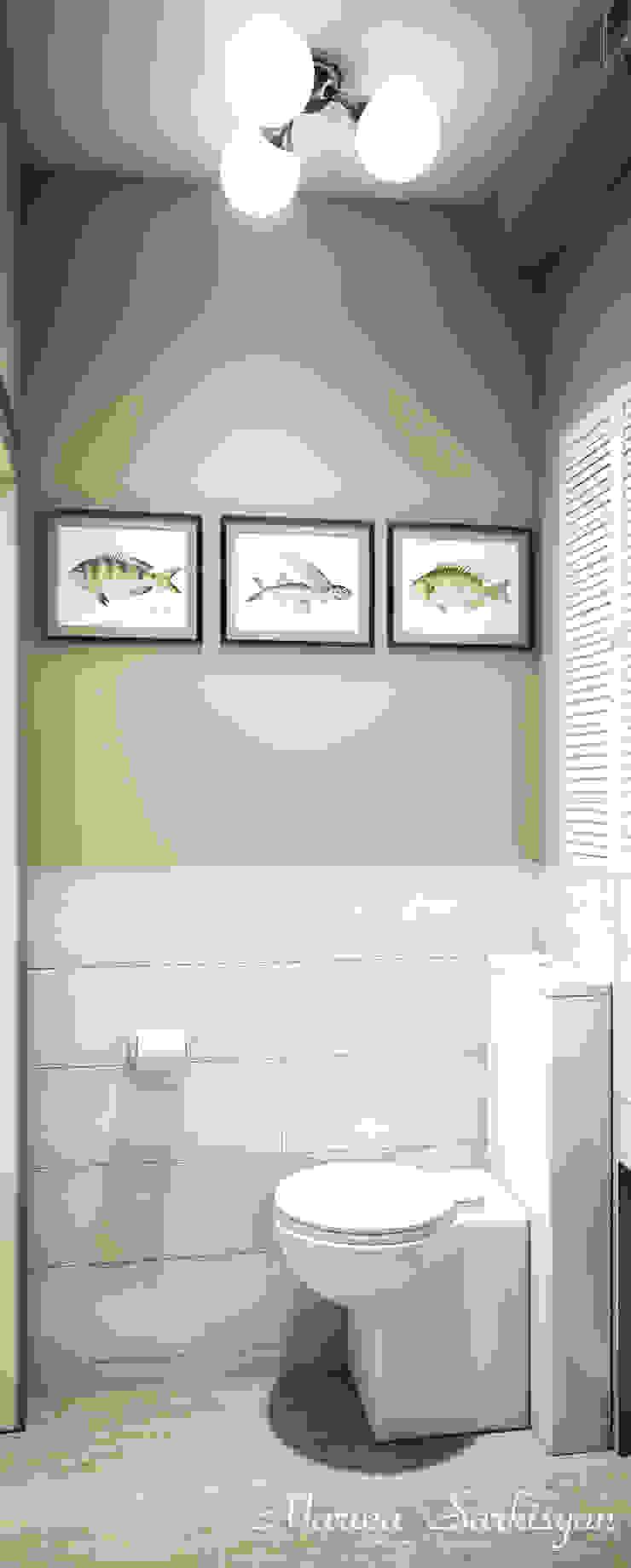 """<q class=""""-first"""">Owl in the city</q> Ванная комната в эклектичном стиле от Marina Sarkisyan Эклектичный"""