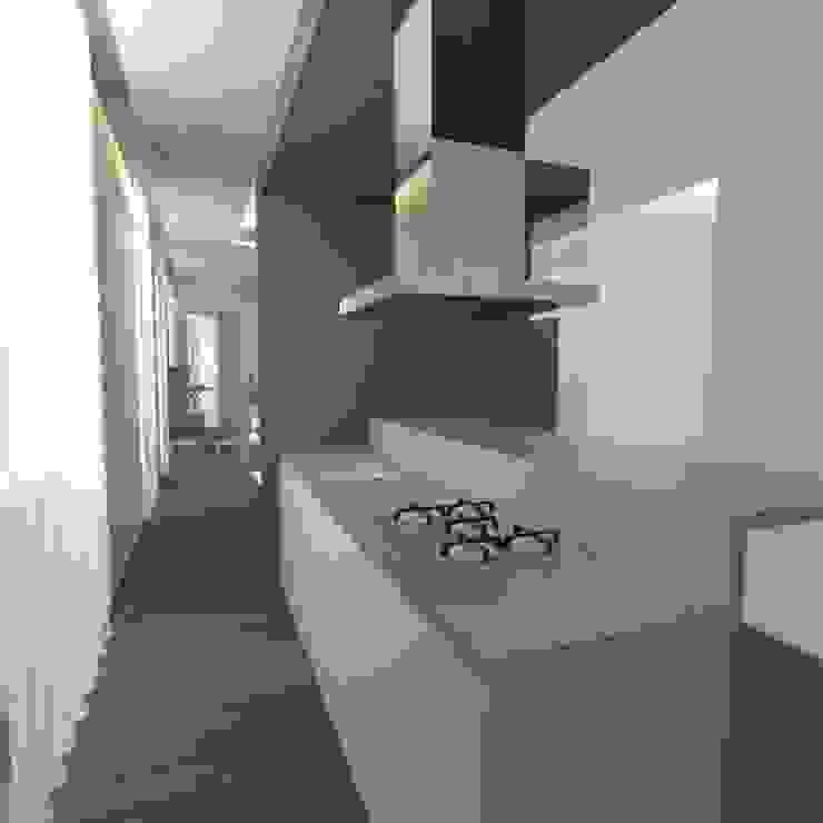 Minimalist kitchen by gk architetti (Carlo Andrea Gorelli+Keiko Kondo) Minimalist