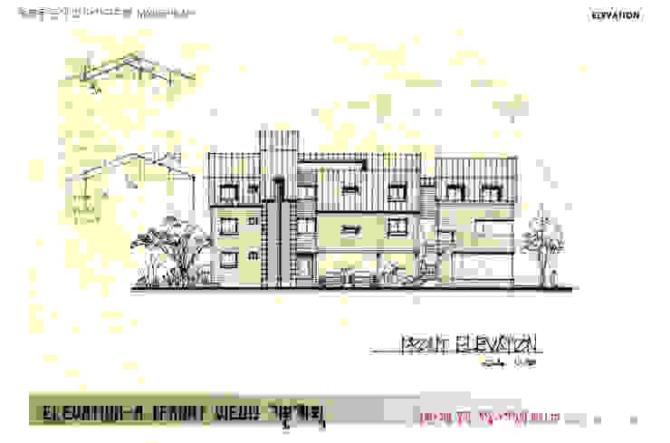 Front elevation 모던스타일 주택 by Urban Garden AIN.Ltd 모던