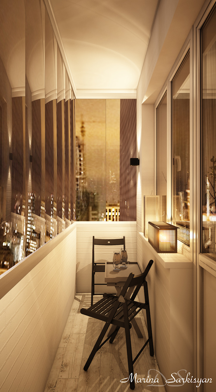 Marina Sarkisyan Ausgefallener Balkon, Veranda & Terrasse