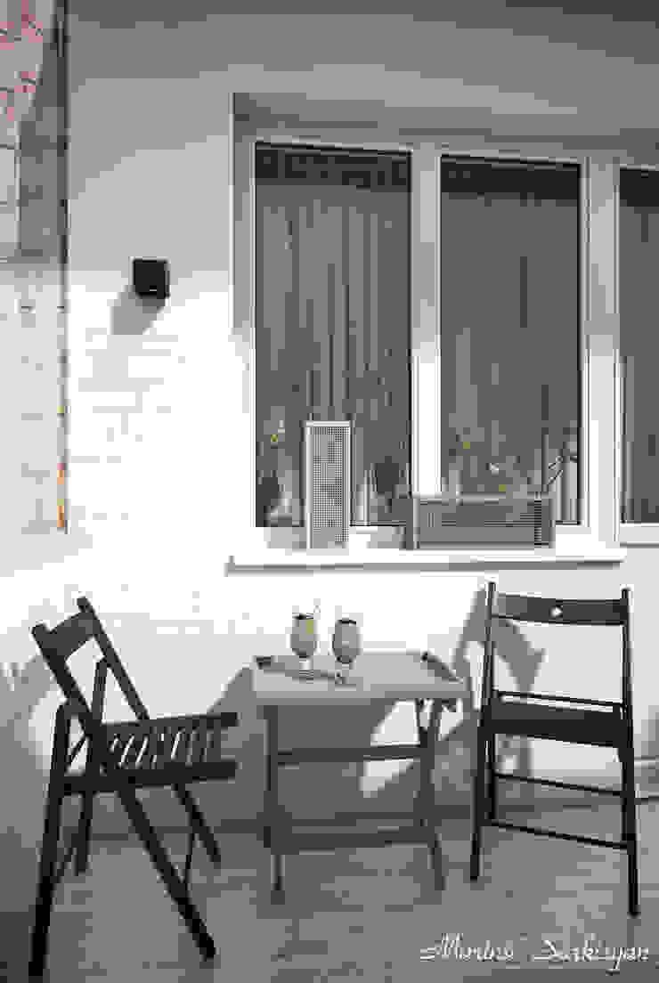 """<q class=""""-first"""">Owl in the city</q> Балконы и веранды в эклектичном стиле от Marina Sarkisyan Эклектичный"""