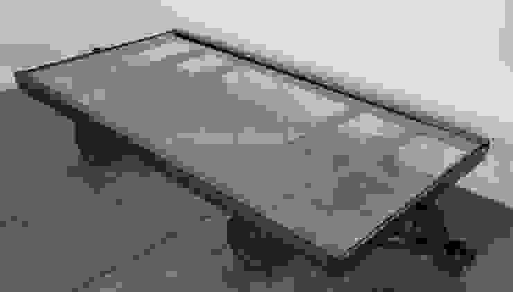Table basse chariot industriel par Indus Spirit Industriel