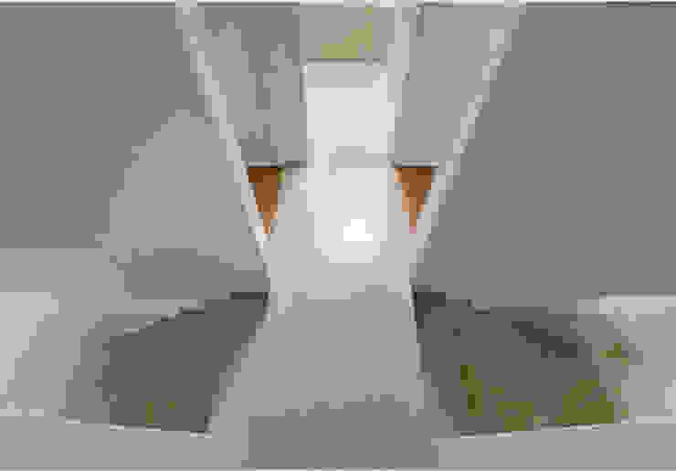 Studio Fori Modern corridor, hallway & stairs