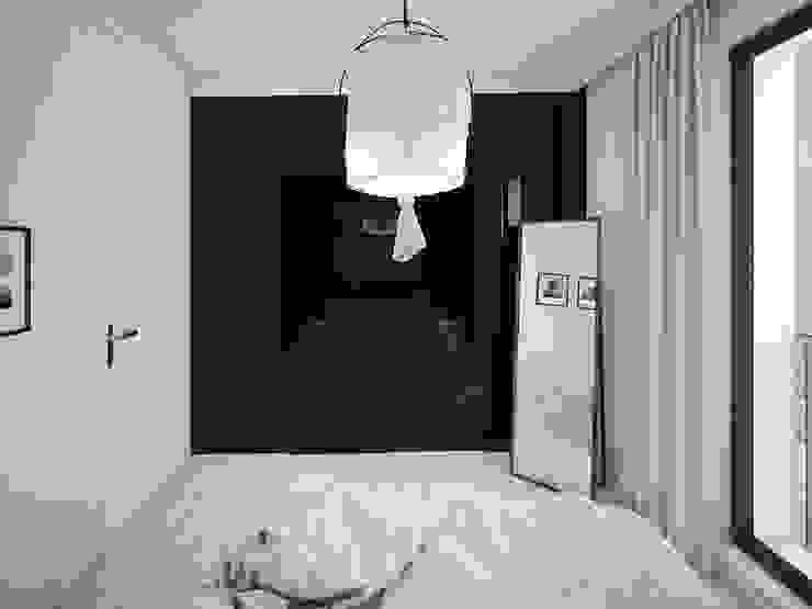 ofdesign Oskar Firek wilga apartment Kraków sypialnia Minimalistyczna sypialnia od OFD architects Minimalistyczny