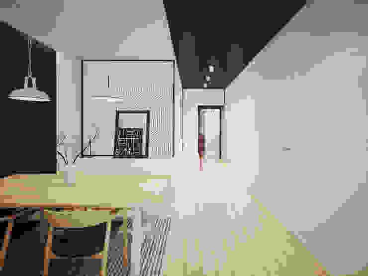 ofdesign Oskar Firek wilga apartment Kraków jadalnia Minimalistyczna jadalnia od OFD architects Minimalistyczny