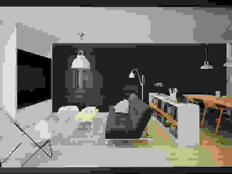 ofdesign Oskar Firek wilga apartment Kraków salon Minimalistyczny salon od OFD architects Minimalistyczny