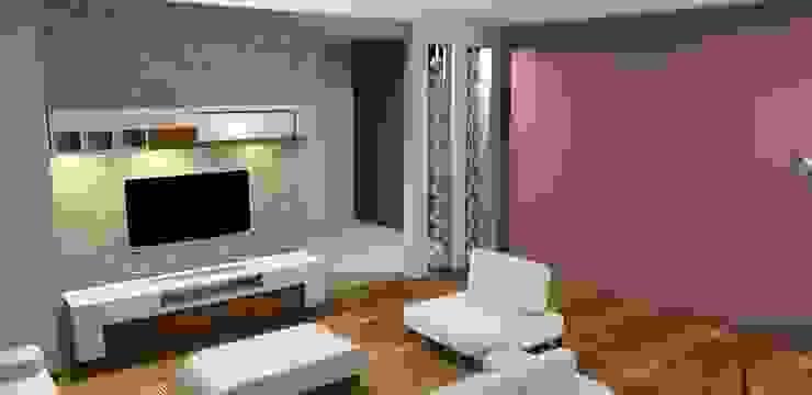 Proje çalışması Modern Oturma Odası Trabcelona Design Modern