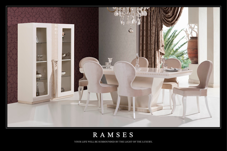 Trabcelona Design – Ramses yemek odası: modern tarz , Modern