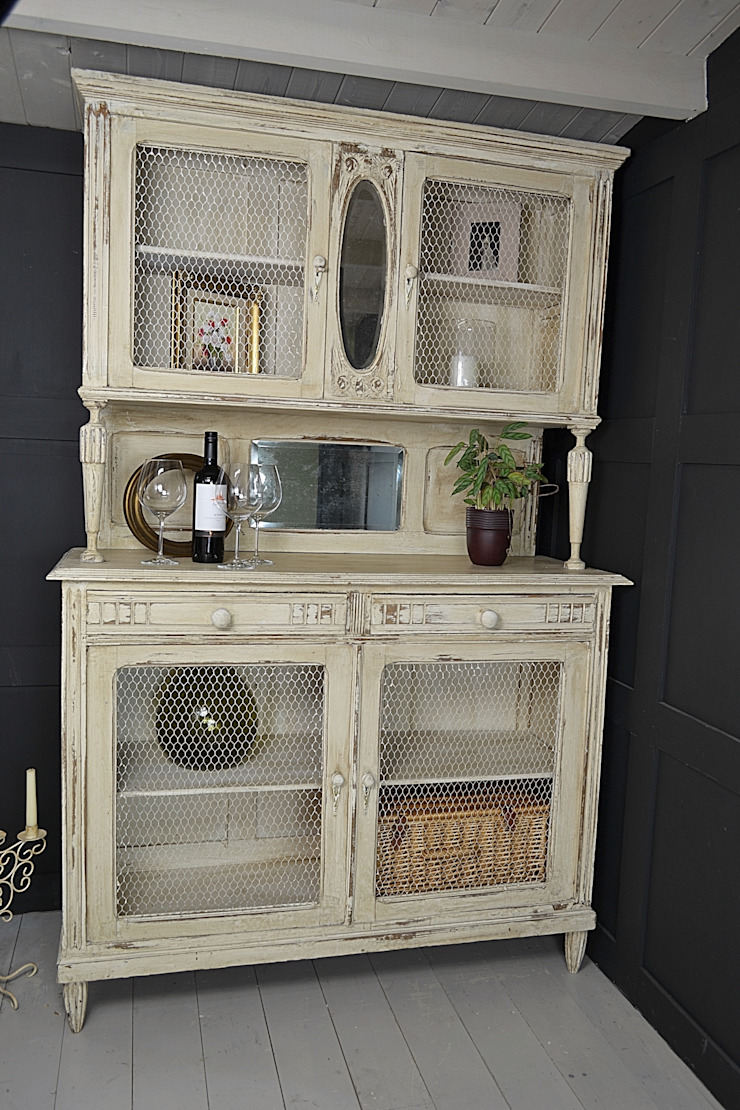 French Shabby Chic Kitchen Dresser with Chicken Wire Doors : classic  by The Treasure Trove Shabby Chic & Vintage Furniture, Classic
