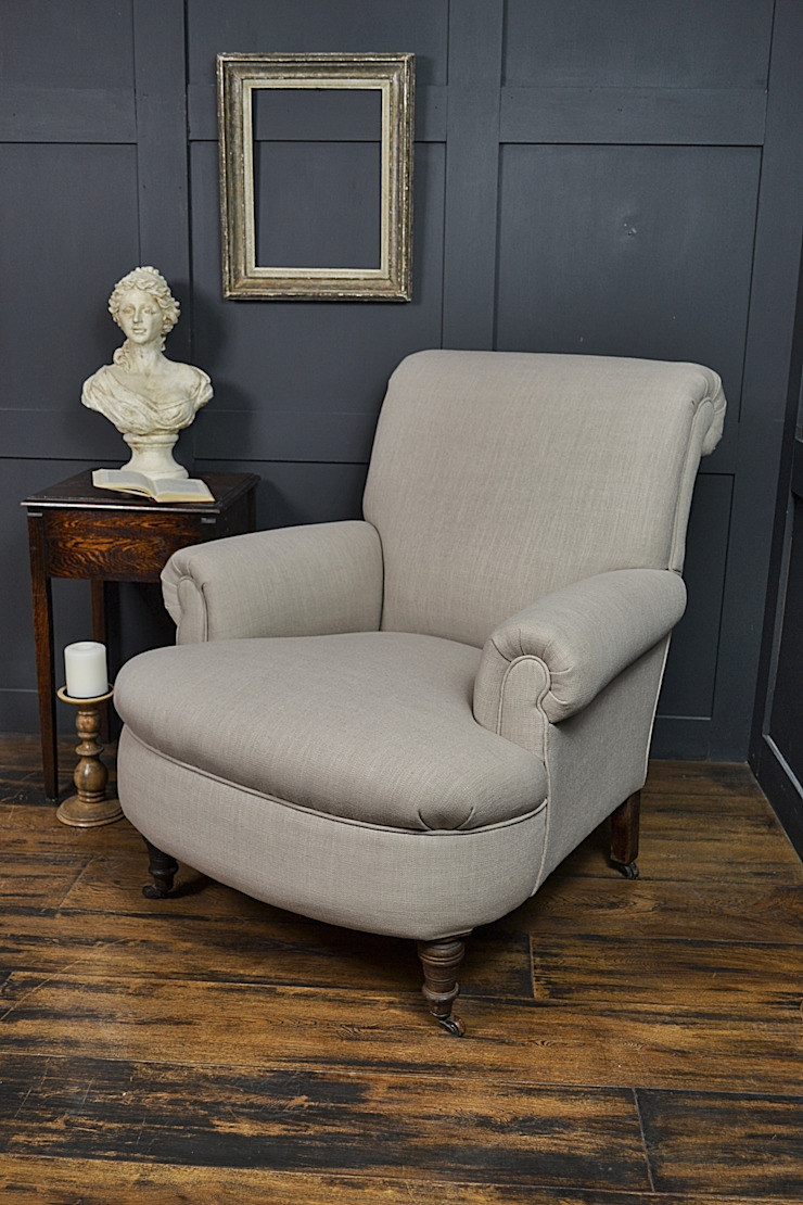 Antique French Scroll Back Armchair on Castors : classic  by The Treasure Trove Shabby Chic & Vintage Furniture, Classic