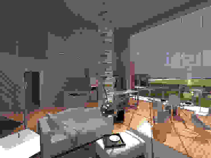 Salas de estilo moderno de studio associato Chinellato - Favaretto Moderno