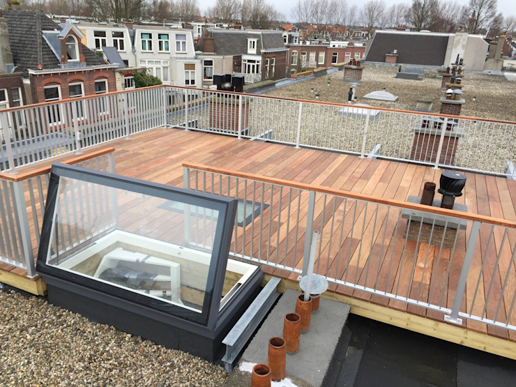 Dakterras:  Balkon, veranda & terras door ScottishCrown Dakterrassen