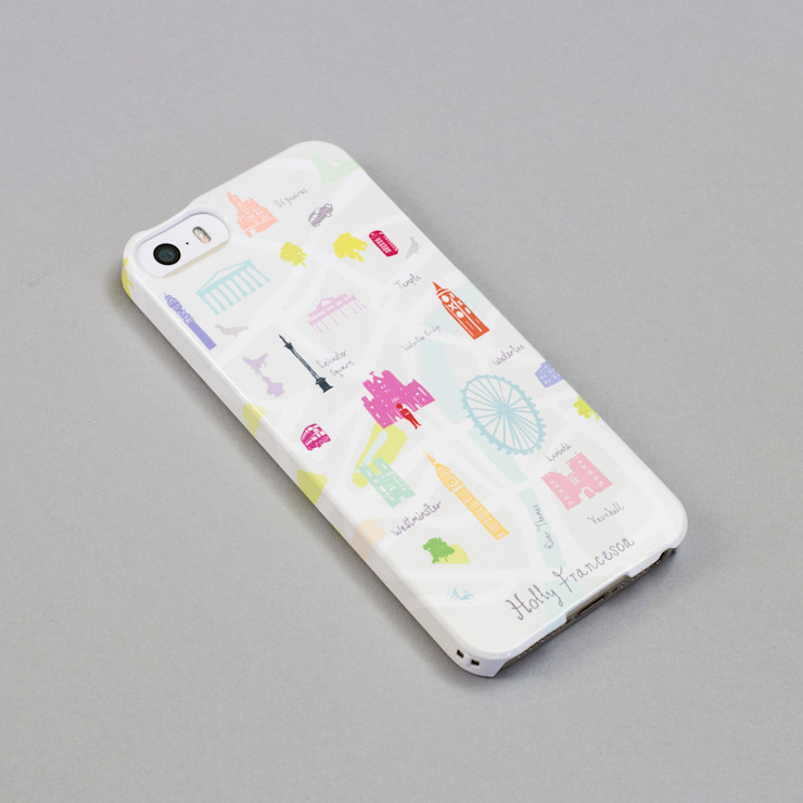 iPhone Case - Map of London de Holly Francesca Moderno