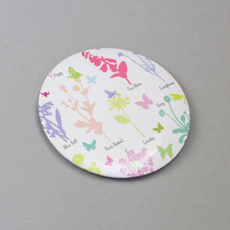 Wildflowers - Pocket Mirror: modern  by Holly Francesca, Modern