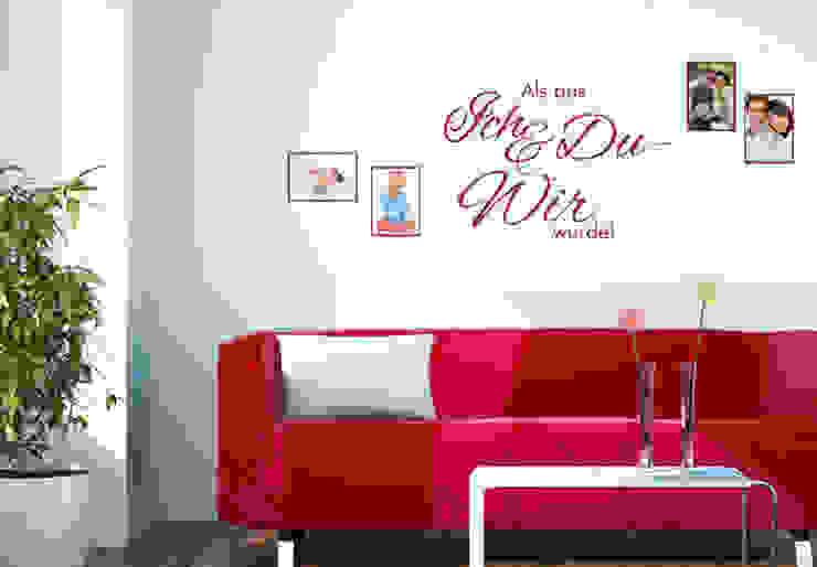 Wandtattoo Als aus Ich und Du - Wir wurde! mit Platz für Fotos! von K&L Wall Art Ausgefallen