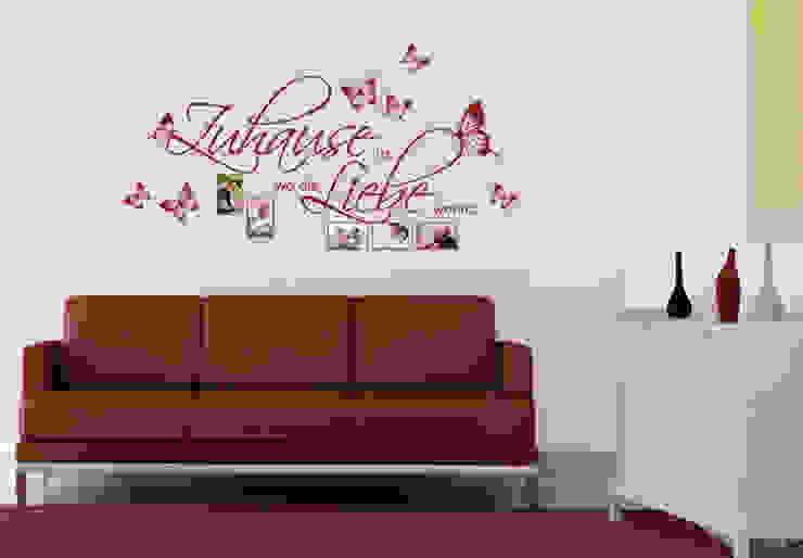 Wandtattoo Zuhause ist, wo die Liebe wohnt. mit Platz für Fotos von K&L Wall Art Ausgefallen