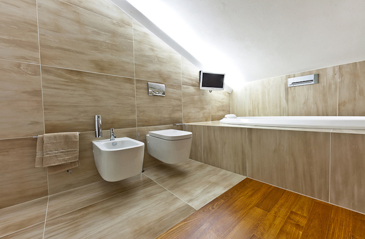 particolare bagno mansarda Bagno moderno di Andrea Stortoni Architetto Moderno