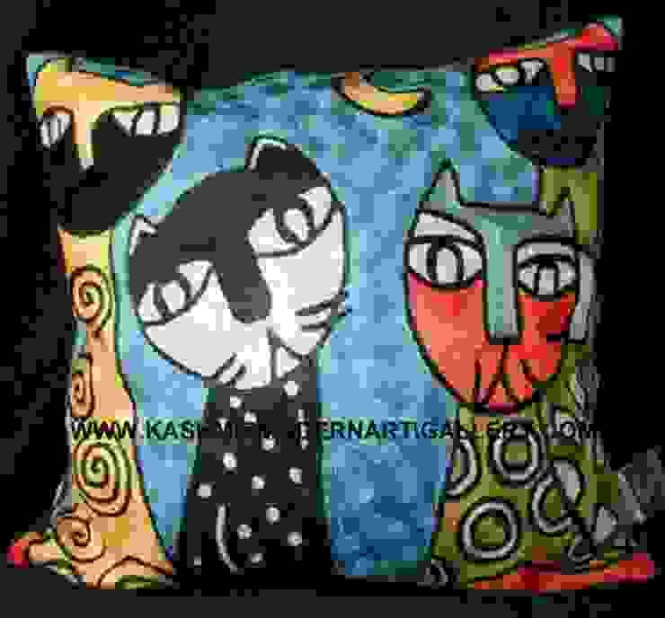 cats blue kashmir modernart gallery Living roomSofas & armchairs