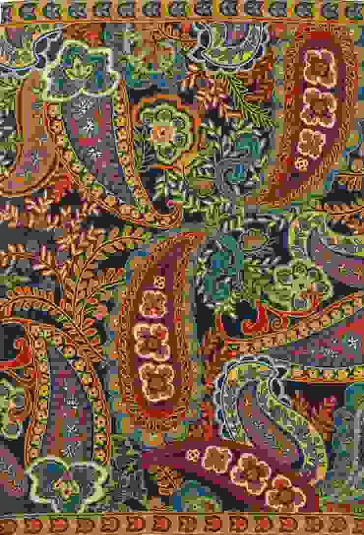 paisley wool rug: modern  by kashmir modernart gallery,Modern