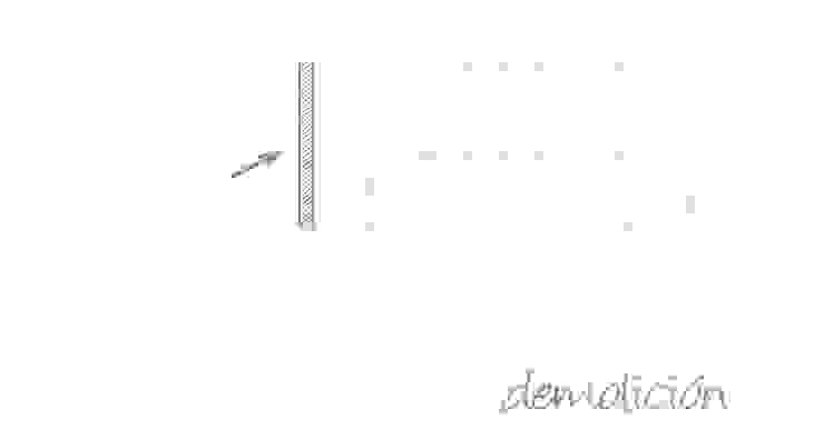 Plano de actuaciones. Demolición de A|H Decoración e interiorismo