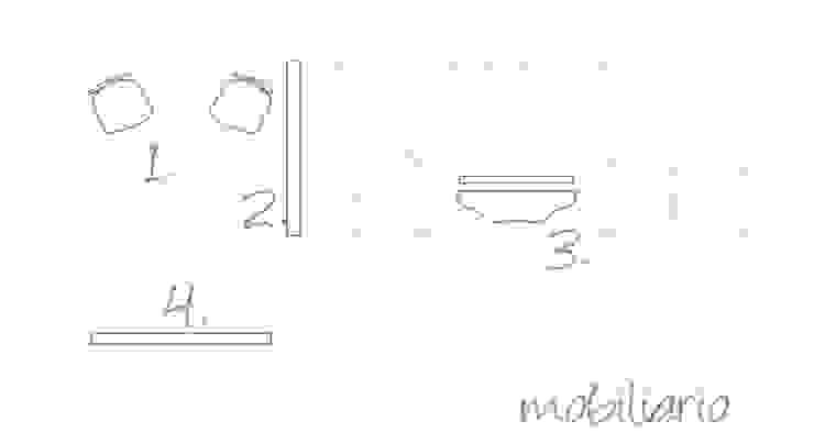 Plano de actuaciones. Mobiliario de A|H Decoración e interiorismo