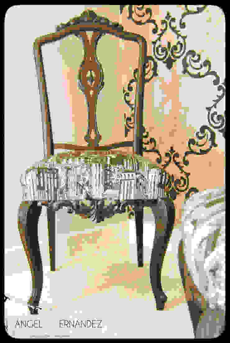 Rastauración y tapizado de mobiliario recuperado de A|H Decoración e interiorismo Clásico