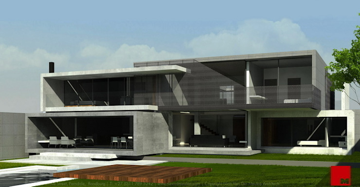 House in Kinshasa Modern houses by Nico Van Der Meulen Architects Modern