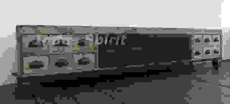 Meuble Tv Industriel Bois Et Metal By Indus Spirit Homify
