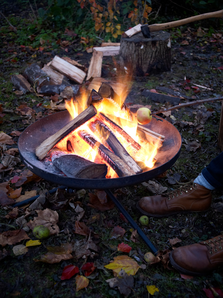 biqju; barbecue, vuurschaal, kookeiland en tafel inéén van biqju Industrieel