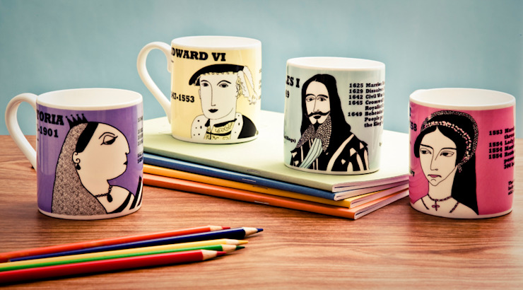 Bone china mugs: modern  by Cole of London, Modern
