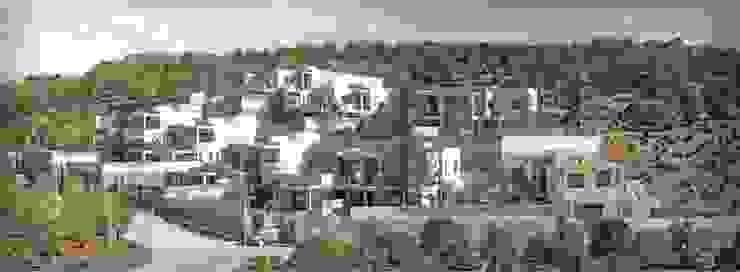 10 viviendas El Pinar Palacios de congresos de estilo moderno de Muxacra Arquitectos Moderno