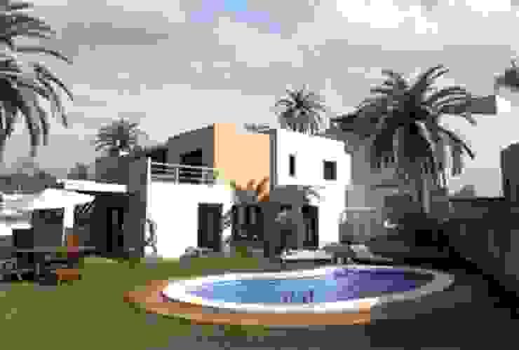 10 viviendas El Pinar Casas de estilo moderno de Muxacra Arquitectos Moderno