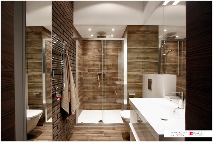 Industrial style bathroom by Borowczyk Architekci Industrial