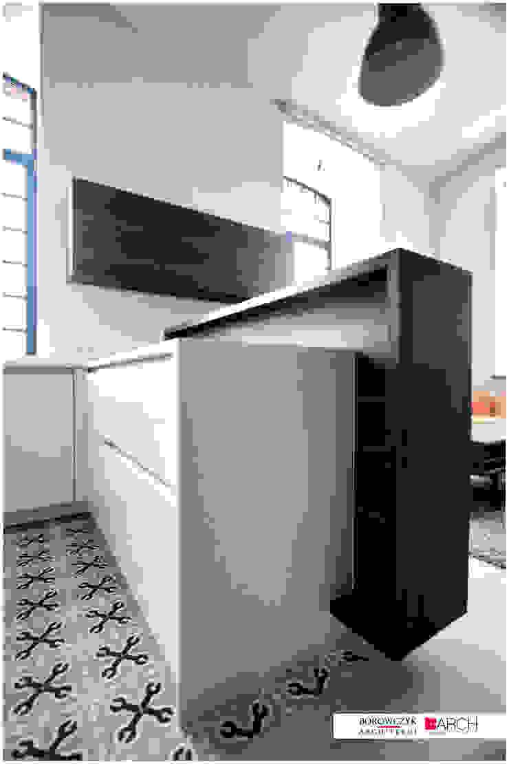 LOFT z widokiem Minimalistyczna kuchnia od Borowczyk Architekci Minimalistyczny