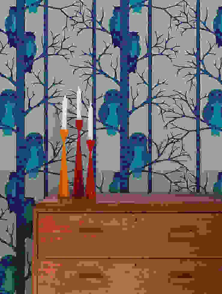The Owls , Wallpaper : scandinavian  by Camilla Meijer, Scandinavian