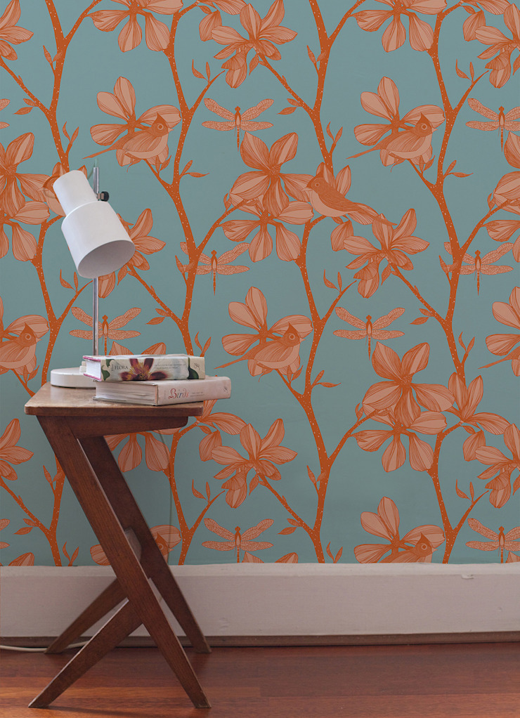 The English Garden, Wallpaper : modern  by Camilla Meijer, Modern