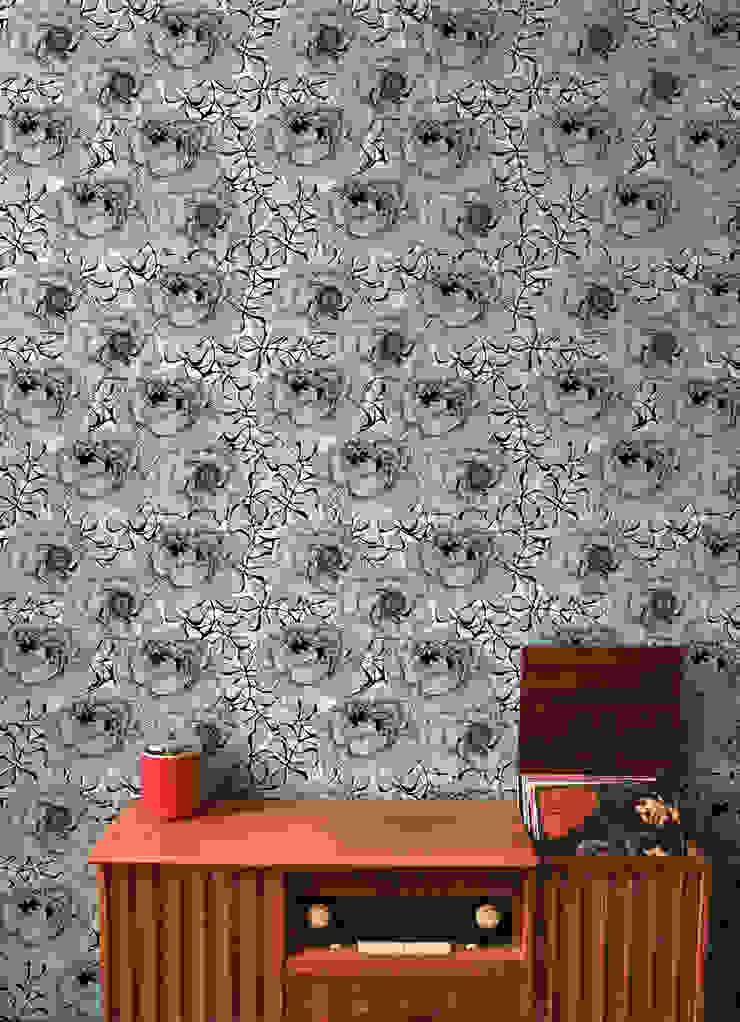 Rose Flower, Wallpaper : modern  by Camilla Meijer, Modern