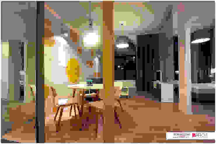 DVUPAK - loft VIVID Nowoczesna jadalnia od Borowczyk Architekci Nowoczesny