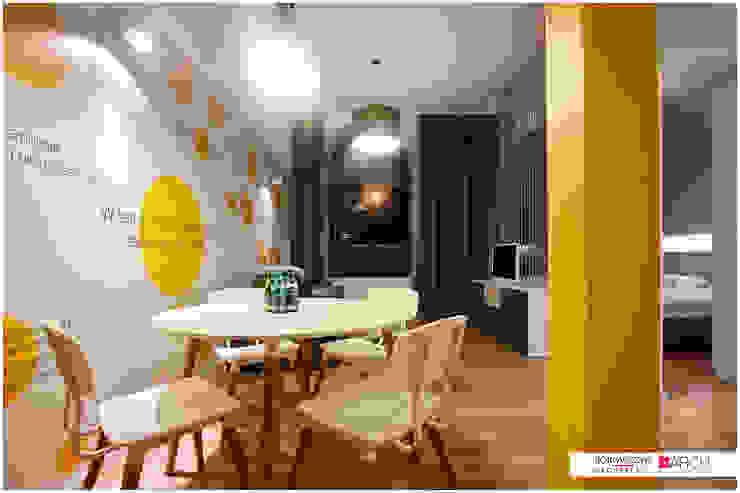 DVUPAK – loft VIVID Nowoczesna jadalnia od Borowczyk Architekci Nowoczesny