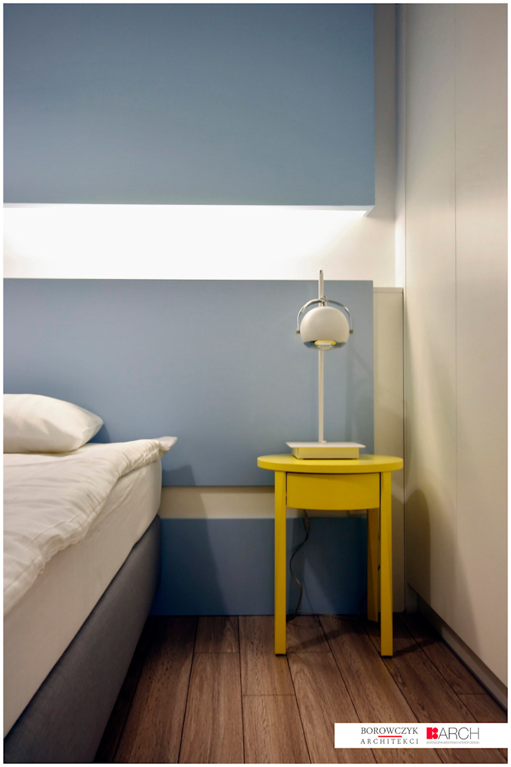 DVUPAK – loft VIVID Nowoczesna sypialnia od Borowczyk Architekci Nowoczesny