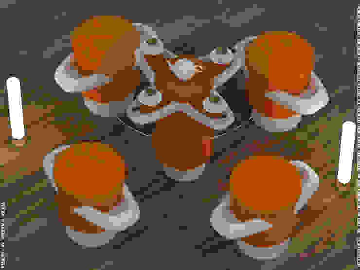 Petals in shades orange - coffee table + stool: modern  by Preetham  Interior Designer,Modern