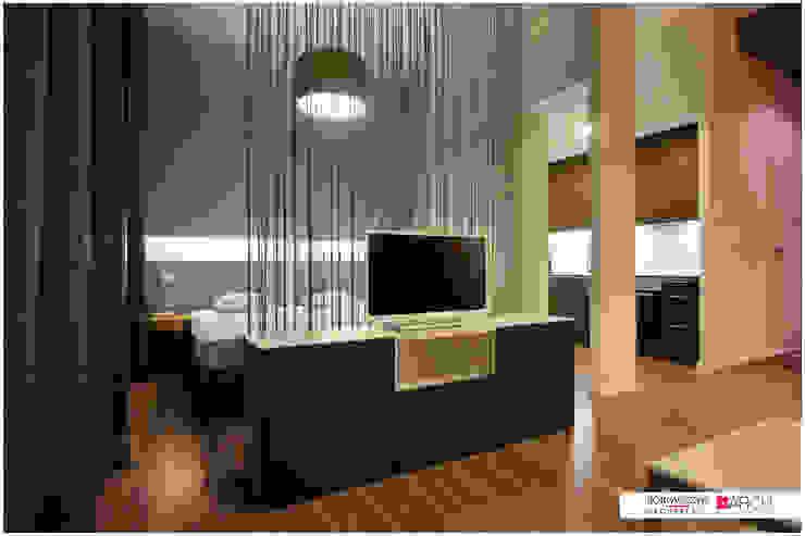 DVUPAK – loft VIVID Nowoczesny salon od Borowczyk Architekci Nowoczesny