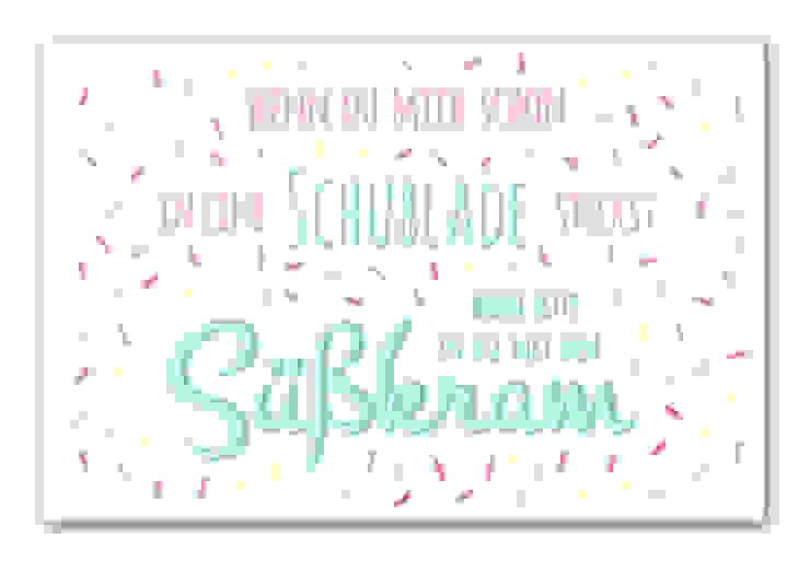 Hartschaum-Wandbilder - Schublade mit Süßkram von K&L Wall Art Ausgefallen