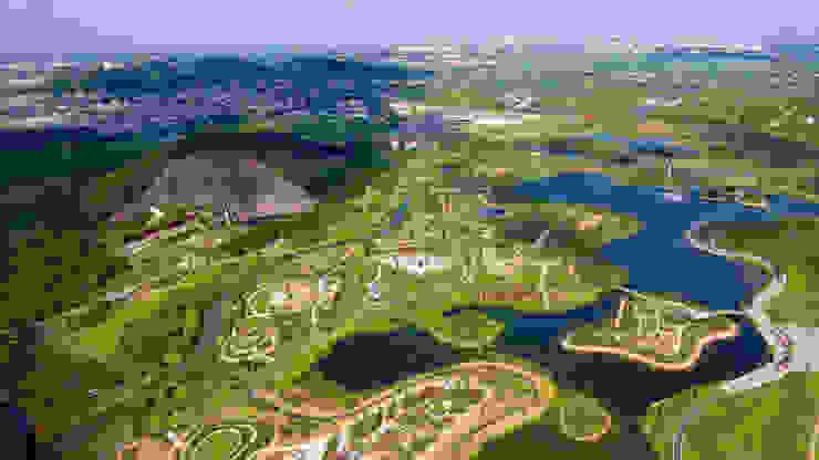 Übersicht © ER Dongqiang Valentien + Valentien Landschaftsarchitekten Stadtplaner Moderne Veranstaltungsorte