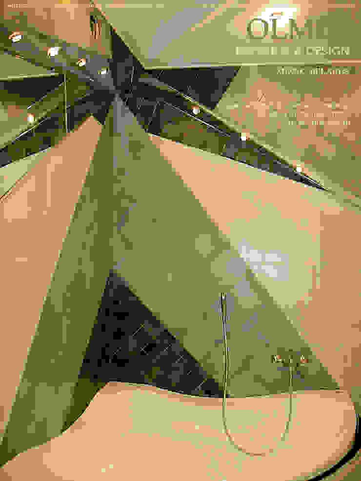 Праздник в Ванной Ванная комната в стиле модерн от ИП OLMIN - Архитектурная студия Олега Минакова Модерн