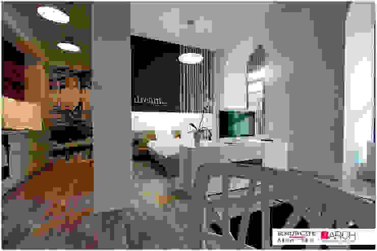 mały LOFT dla singla Minimalistyczna sypialnia od Borowczyk Architekci Minimalistyczny